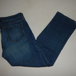GAP Size 4 (27) Straight Crop Jeans Pre-Owned